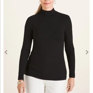 Chicos Black High Neck Sweater